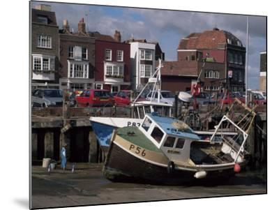 Fishing Boats, Portsmouth Harbour, Portsmouth, Hampshire, England, United Kingdom-Robert Francis-Mounted Photographic Print