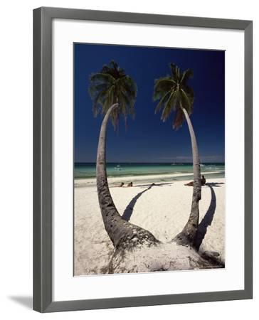 Beach on West Coast of Holiday Island off the Coast of Panay, Boracay, Philippines-Robert Francis-Framed Photographic Print