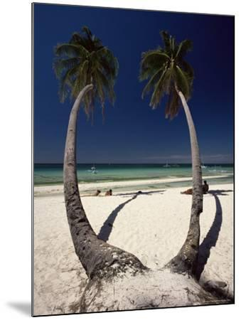 Beach on West Coast of Holiday Island off the Coast of Panay, Boracay, Philippines-Robert Francis-Mounted Photographic Print
