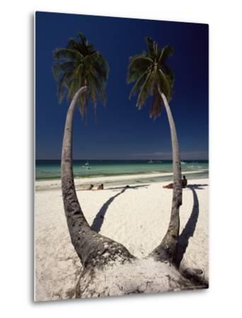 Beach on West Coast of Holiday Island off the Coast of Panay, Boracay, Philippines-Robert Francis-Metal Print