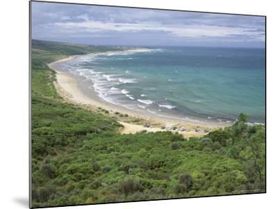 Coast of the Angahook-Lorne State Park, West of Anglesea, on Great Ocean Road, Victoria, Australia-Robert Francis-Mounted Photographic Print