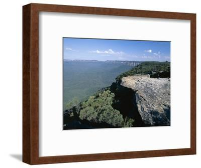 Eucalyptus Oil Haze Causes the Blueness in the View in the Blue Mountains National Park-Robert Francis-Framed Photographic Print