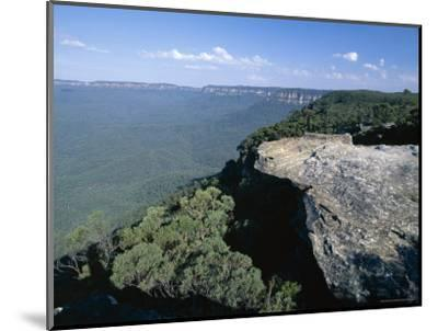 Eucalyptus Oil Haze Causes the Blueness in the View in the Blue Mountains National Park-Robert Francis-Mounted Photographic Print