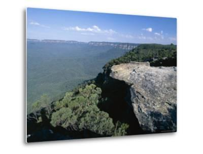Eucalyptus Oil Haze Causes the Blueness in the View in the Blue Mountains National Park-Robert Francis-Metal Print