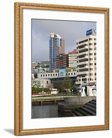 Modern Architecture Around the Civic Square, Wellington, North Island, New Zealand-Don Smith-Framed Photographic Print