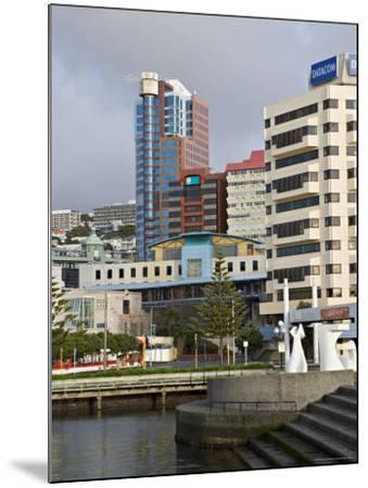 Modern Architecture Around the Civic Square, Wellington, North Island, New Zealand-Don Smith-Mounted Photographic Print