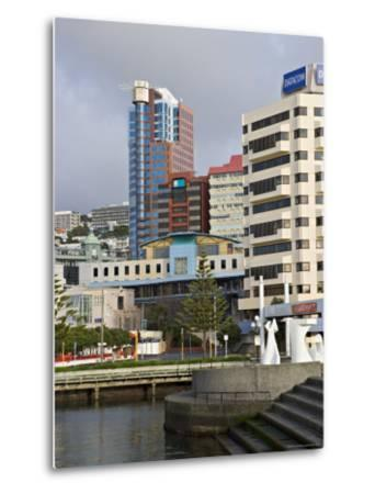 Modern Architecture Around the Civic Square, Wellington, North Island, New Zealand-Don Smith-Metal Print