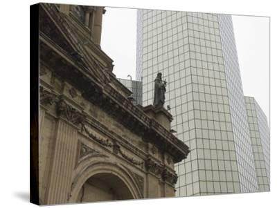 Metropolitan Cathedral, Plaza De Armas, Santiago, Chile, South America-Michael Snell-Stretched Canvas Print