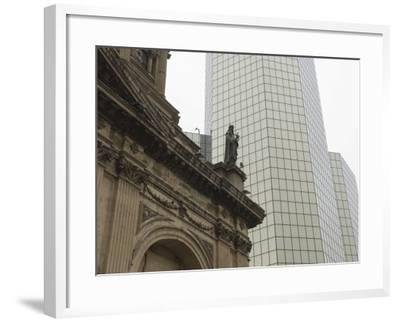 Metropolitan Cathedral, Plaza De Armas, Santiago, Chile, South America-Michael Snell-Framed Photographic Print