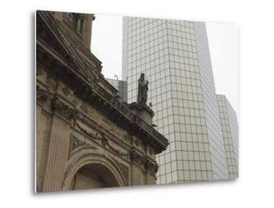 Metropolitan Cathedral, Plaza De Armas, Santiago, Chile, South America-Michael Snell-Metal Print