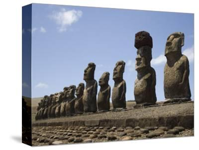 Ahu Tongariki, Unesco World Heritage Site, Easter Island (Rapa Nui), Chile, South America-Michael Snell-Stretched Canvas Print