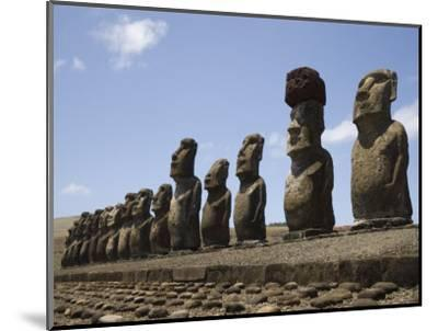 Ahu Tongariki, Unesco World Heritage Site, Easter Island (Rapa Nui), Chile, South America-Michael Snell-Mounted Photographic Print