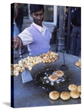 Street Food, Delhi, India-John Henry Claude Wilson-Stretched Canvas Print