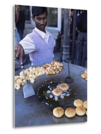 Street Food, Delhi, India-John Henry Claude Wilson-Metal Print