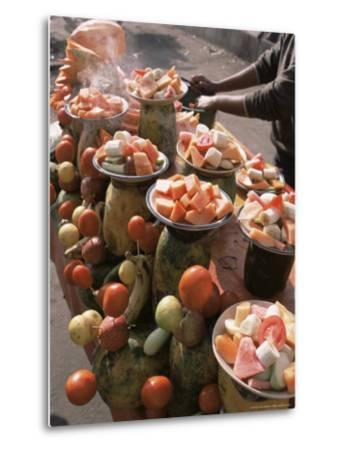 Fruit Stall, Delhi, India-John Henry Claude Wilson-Metal Print