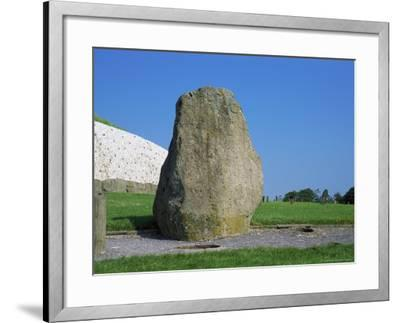 Standing Stone, Newgrange, Unesco World Heritage Site, County Meath, Leinster, Republic of Ireland-Nedra Westwater-Framed Photographic Print