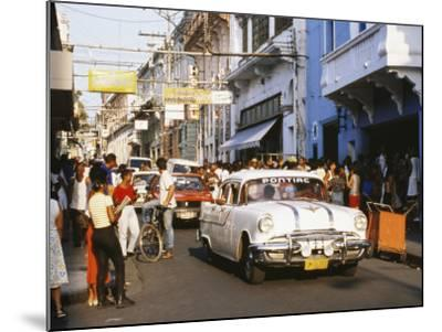 Old Pontiac, an American Car Kept Working Since Before the Revolution, Santiago De Cuba, Cuba-Tony Waltham-Mounted Photographic Print