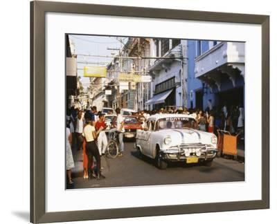 Old Pontiac, an American Car Kept Working Since Before the Revolution, Santiago De Cuba, Cuba-Tony Waltham-Framed Photographic Print