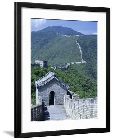 Restored Section with Watchtowers of the Great Wall, Northeast of Beijing, Mutianyu, China-Tony Waltham-Framed Photographic Print
