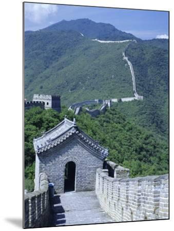 Restored Section with Watchtowers of the Great Wall, Northeast of Beijing, Mutianyu, China-Tony Waltham-Mounted Photographic Print