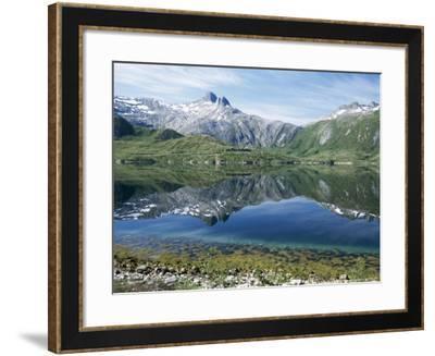 Tjongsfjorden, on Arctic Circle, Kystriksveien Coast Road, Norway, Scandinavia-Tony Waltham-Framed Photographic Print