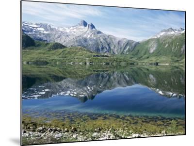 Tjongsfjorden, on Arctic Circle, Kystriksveien Coast Road, Norway, Scandinavia-Tony Waltham-Mounted Photographic Print