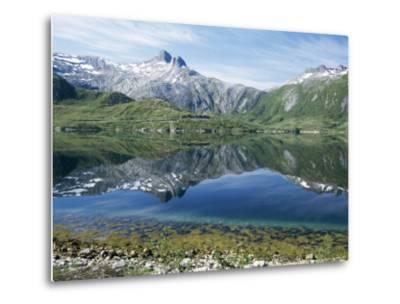 Tjongsfjorden, on Arctic Circle, Kystriksveien Coast Road, Norway, Scandinavia-Tony Waltham-Metal Print