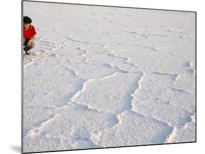 Salt Flats Beside Lac Assal in Rift Valley 152M Below Sea Level, Afar Triangle, Djibouti, Africa-Tony Waltham-Mounted Photographic Print