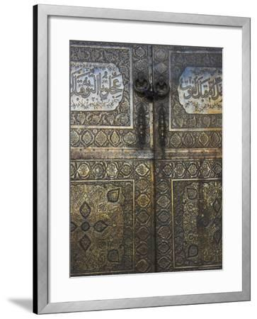 Bronze Doors in the Courtyard of the Friday Mosque or Masjet-Ejam, Herat, Afghanistan-Jane Sweeney-Framed Photographic Print