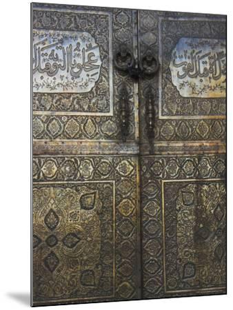 Bronze Doors in the Courtyard of the Friday Mosque or Masjet-Ejam, Herat, Afghanistan-Jane Sweeney-Mounted Photographic Print