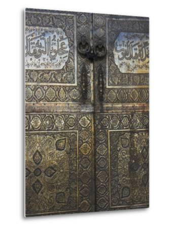 Bronze Doors in the Courtyard of the Friday Mosque or Masjet-Ejam, Herat, Afghanistan-Jane Sweeney-Metal Print