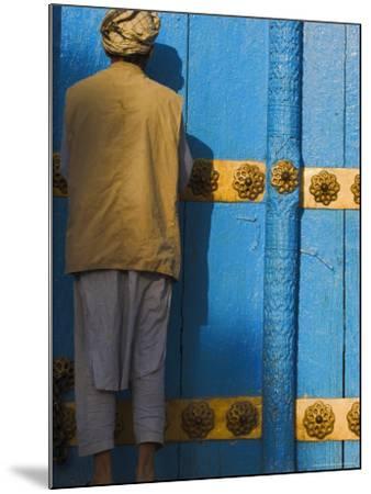Pilgrim at the Shrine of Hazrat Ali, Mazar-I-Sharif, Afghanistan-Jane Sweeney-Mounted Photographic Print