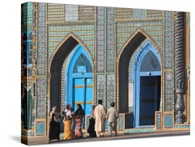 Pilgrims at the Shrine of Hazrat Ali, Who was Assassinated in 661, Mazar-I-Sharif, Afghanistan-Jane Sweeney-Stretched Canvas Print