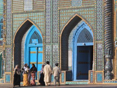 Pilgrims at the Shrine of Hazrat Ali, Who was Assassinated in 661, Mazar-I-Sharif, Afghanistan-Jane Sweeney-Framed Photographic Print