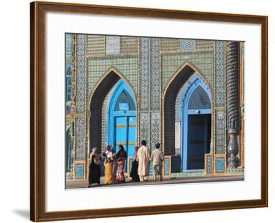 Pilgrims at the Shrine of Hazrat Ali, Who was Assassinated in 661, Mazar-I-Sharif, Afghanistan-Jane Sweeney-Framed Photographic Print