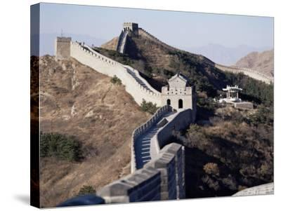 The Great Wall of China, Unesco World Heritage Site, Near Beijing, China-Adina Tovy-Stretched Canvas Print