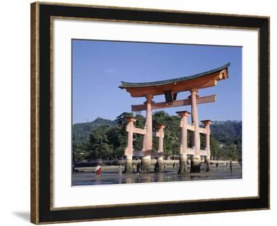 The Great Torii from the Corridor of Itsukushima Shrine, Akino, Miya-Jima, Japan-Adina Tovy-Framed Photographic Print