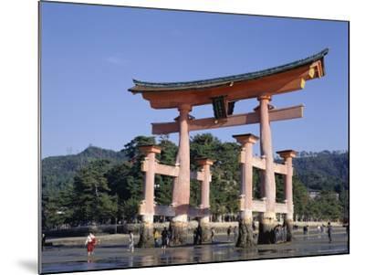 The Great Torii from the Corridor of Itsukushima Shrine, Akino, Miya-Jima, Japan-Adina Tovy-Mounted Photographic Print