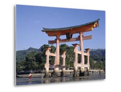 The Great Torii from the Corridor of Itsukushima Shrine, Akino, Miya-Jima, Japan-Adina Tovy-Metal Print