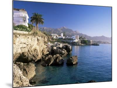 View Along Rocky Coast to Town and Mountains, Nerja, Malaga Area, Costa Del Sol, Andalucia, Spain-Ruth Tomlinson-Mounted Photographic Print