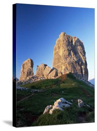 Cinque Torri at Sunset, Near Cortina d'Ampezzo, Dolomites, Veneto, Italy-Ruth Tomlinson-Stretched Canvas Print