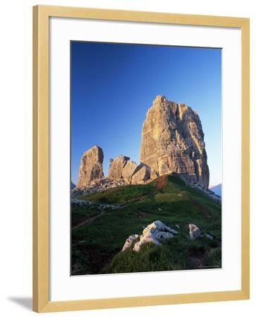 Cinque Torri at Sunset, Near Cortina d'Ampezzo, Dolomites, Veneto, Italy-Ruth Tomlinson-Framed Photographic Print