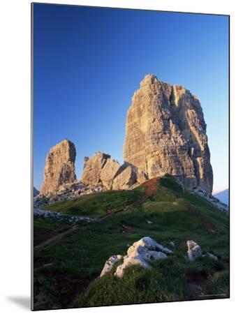 Cinque Torri at Sunset, Near Cortina d'Ampezzo, Dolomites, Veneto, Italy-Ruth Tomlinson-Mounted Photographic Print