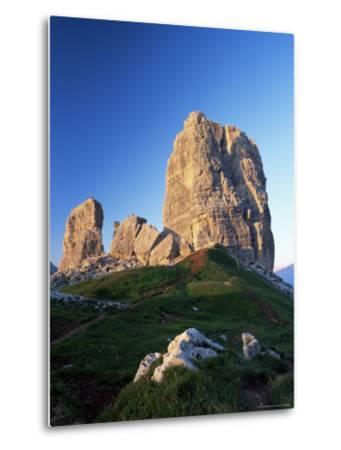 Cinque Torri at Sunset, Near Cortina d'Ampezzo, Dolomites, Veneto, Italy-Ruth Tomlinson-Metal Print