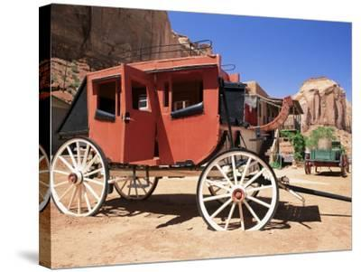 Stage Coach Outside Goulding's Museum, Monument Valley, Arizona/Utah Border, USA-Ruth Tomlinson-Stretched Canvas Print