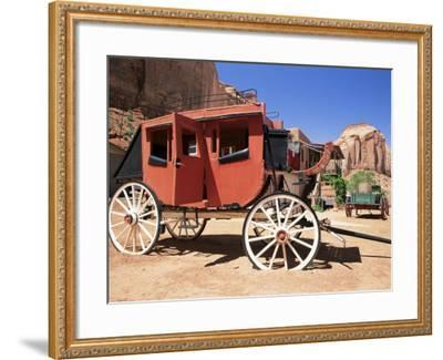 Stage Coach Outside Goulding's Museum, Monument Valley, Arizona/Utah Border, USA-Ruth Tomlinson-Framed Photographic Print