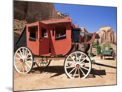 Stage Coach Outside Goulding's Museum, Monument Valley, Arizona/Utah Border, USA-Ruth Tomlinson-Mounted Photographic Print