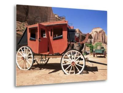Stage Coach Outside Goulding's Museum, Monument Valley, Arizona/Utah Border, USA-Ruth Tomlinson-Metal Print