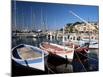 Fishing Boats in the Harbour, Sanary-Sur-Mer, Var, Cote d'Azur, Provence, France-Ruth Tomlinson-Mounted Photographic Print