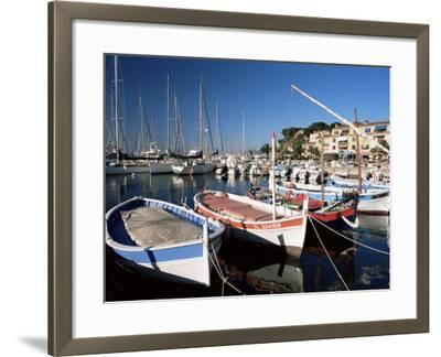 Fishing Boats in the Harbour, Sanary-Sur-Mer, Var, Cote d'Azur, Provence, France-Ruth Tomlinson-Framed Photographic Print